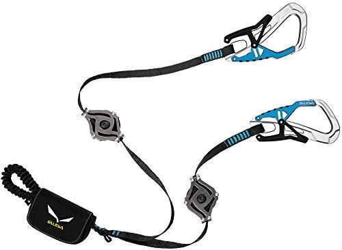 SALEWA Erwachsene Klettersteigset Via Ferrata Ergo Zip, Black/Blue, One size