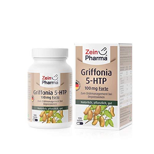 ZeinPharma 5- HTP Griffonia 100mg, 120 Kapseln, 1er Pack (1 x 49 g)