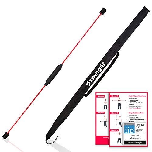swingfit® Schwingstab inkl. praktischer Tasche & Rücken Trainingsplan - Swingstick...