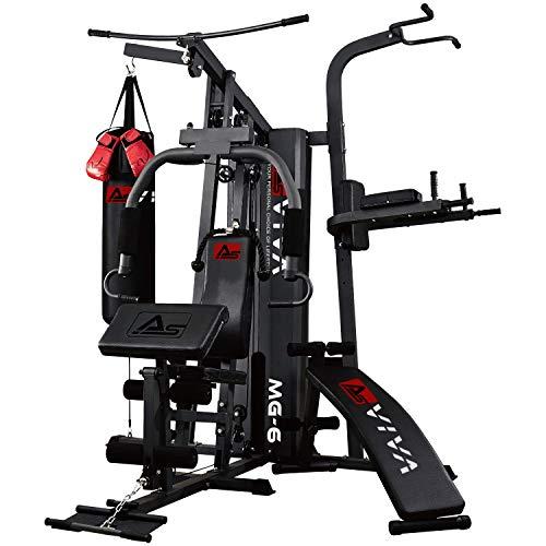 AsVIVA Kraftstation MG6 Pro, 50in1, 90kg Box-Kampfsport Multi-Gym, Dip-Station,...
