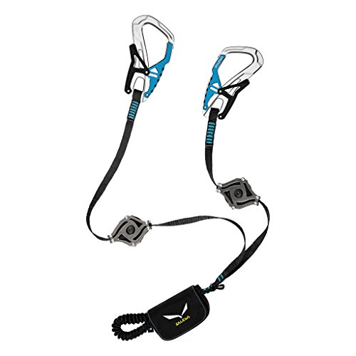 SALEWA Erwachsene Klettersteigset Via Ferrata Ergo Zip, Black/Blue, One size