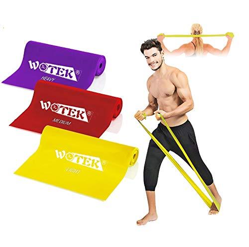WOTEK Fitnessbänder Set widerstandsbänder krafttraining Fitnessband Theraband...
