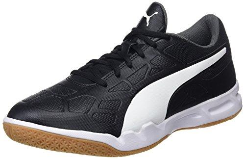 PUMA Unisex Tenaz Multisport Indoor Schuhe, Black-White-Iron Gate-Gum, 42.5 EU