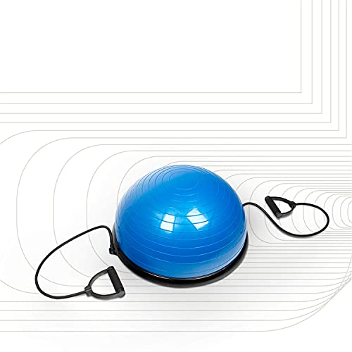 SportPlus Balance Ball Halbkugel inkl. Traningsbänder, ca. 62 cm Durchmesser,...