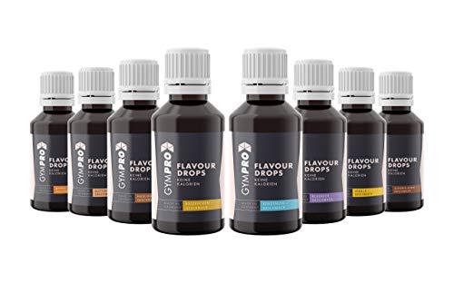 GymPro - Flavour Drops 50ml (8er Packung) - Liquid Aroma Tropfen ohne Kalorien -...