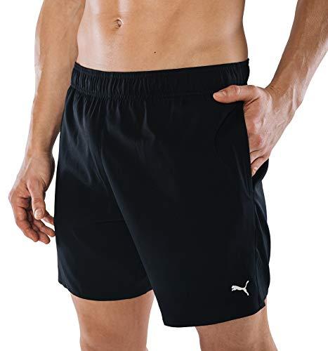 PUMA Herren Badehose Badeshorts Summer Deluxe Swim Shorts - schwarz - Gr. S