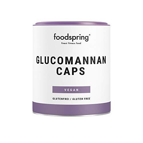 foodspring Glucomannan Kapseln, 120 Stück, Rein pflanzliche Nahrungsergänzung, die...