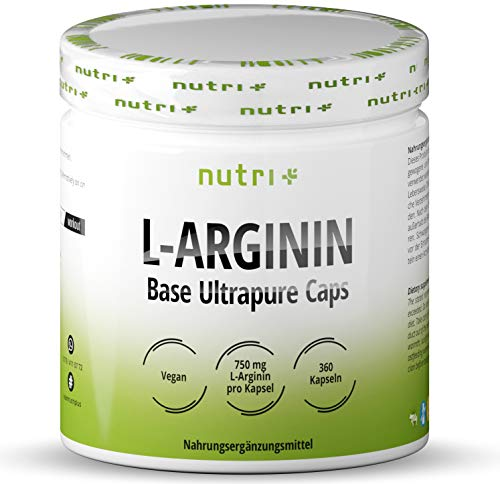 L-ARGININ BASE Kapseln vegan hochdosiert - fermentiert laborgeprüft - 4500mg 100%...