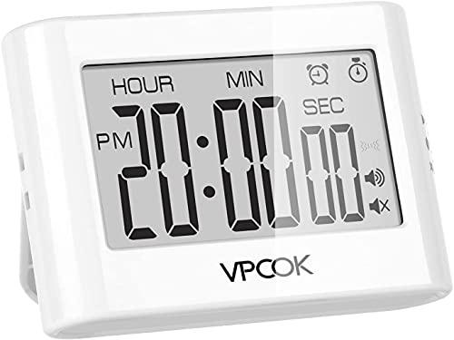 VPCOK Digitaler Timer und Stoppuhr, Eieruhr, Küchenuhr mit Magnethalterung,...