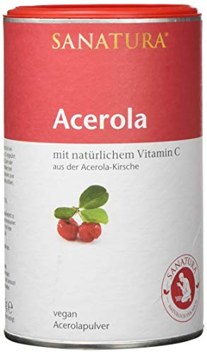 Sanatura Acerola – 175 g Acerola Pulver – natürliches Vitamin C hochdosiert –...