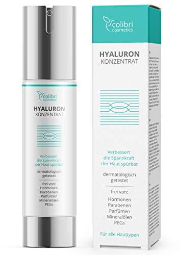 Hyaluronsäure Serum hochdosiert - Natürliche Hyaluron Anti-Aging Creme für das...
