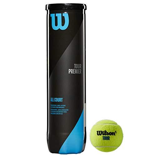 Wilson Tennisbälle Tour Premier für alle Beläge, gelb, 3er Dose, WRT109400