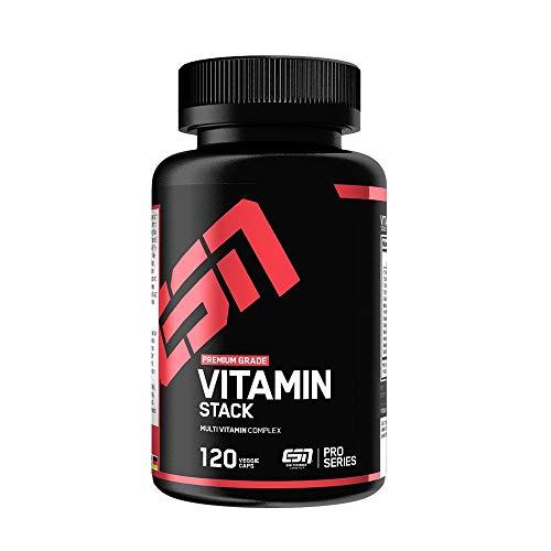 ESN Vitamin Stack – 120 Kapseln – Hochwertiger Multivitamin Komplex – Optimale...