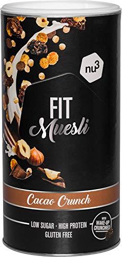 nu3 Fit Protein Müsli Cacao Crunch - 450 g Proteinmüsli aus herben Kakao, Mandeln,...