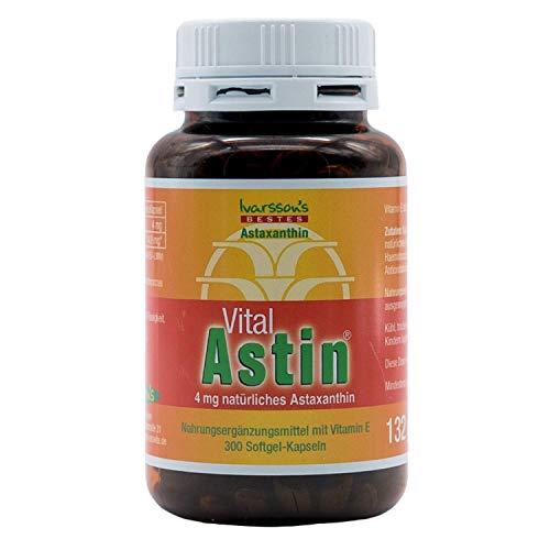 VitalAstin Astaxanthin 300 Kapseln I Das Original - Ivarssons VitalAstin mit 4 mg...