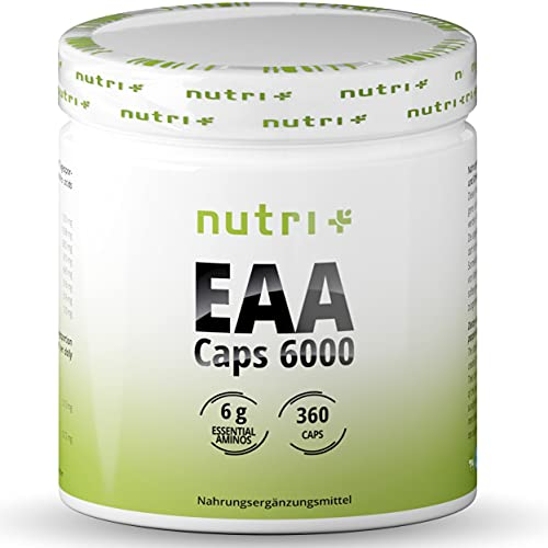 EAA Kapseln - 360 Mega Caps à 750mg - vegan & hochdosiert - 8 essenzielle...