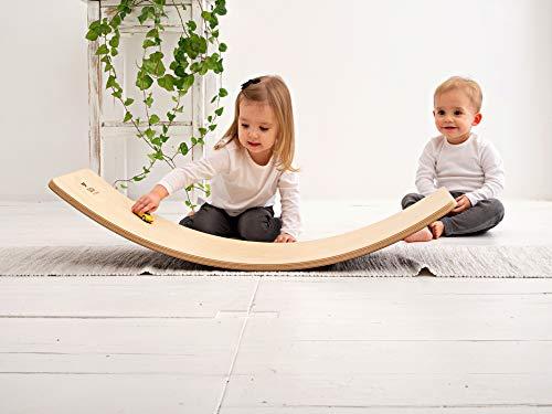 Duck Woodworks Birch Balance Board | Montessori Wooden Board | Rocking Board | Wobble...