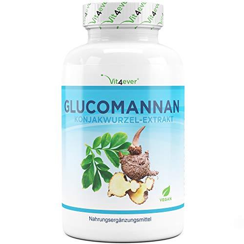 Abnehmen mit Glucomannan aus der Konjak Wurzel - 180 Kapseln - Premium: Hochdosiert...