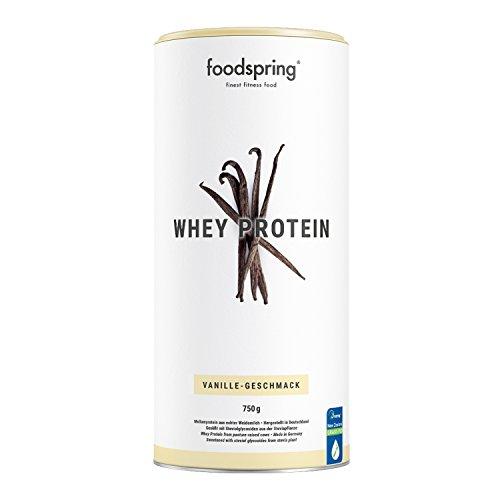 foodspring Whey Protein Pulver, 750g, Vanille, Eiweißpulver mit hohem Proteingehalt...