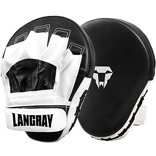LangRay Handpratzen Kampfsport Boxen, 1 Paar Boxpratzen aus Kunstleder Kickboxen...