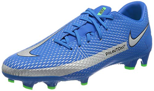 Nike Unisex Phantom Gt Academy Fg/Mg Fußballschuhe, Photo Blue Metallic Silver Rage...