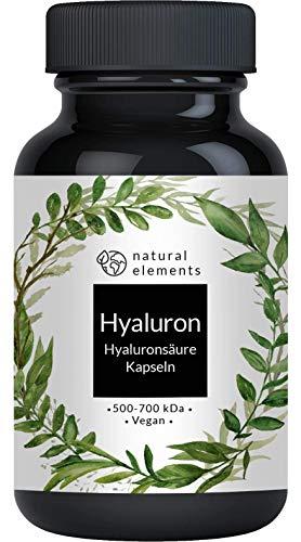 Hyaluronsäure Kapseln - Hochdosiert mit 500mg - 500-700 kDa - 90 Kapseln -...