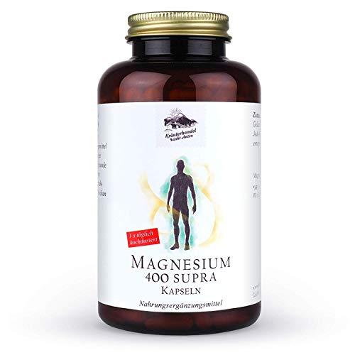 KRÄUTERHANDEL SANKT ANTON - Magnesium 400 Supra Kapseln - 400mg reines Magnesium...
