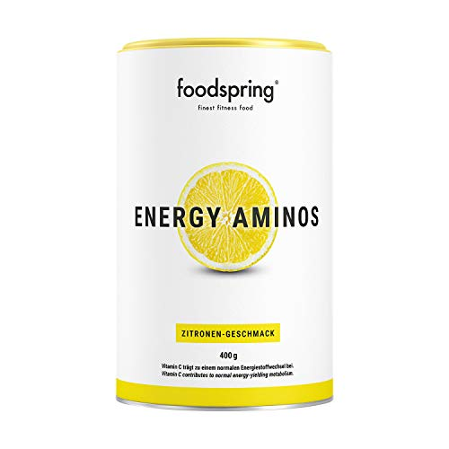 foodspring, Energy Aminos, Zitrone, 400g, Pre-Workout-Booster mit Vitamin C, B3, B12,...
