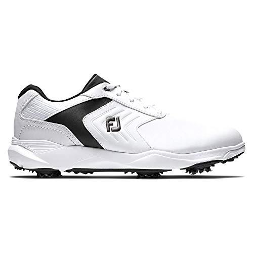 Footjoy Herren Ecomfort Golfschuh, Blanco/Negro, 43 EU