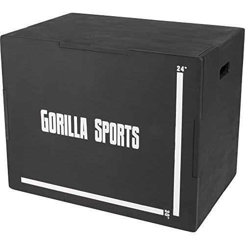 GORILLA SPORTS® Plyobox Holz Schwarz – Jump-Box für plyometrisches Cross-Training...