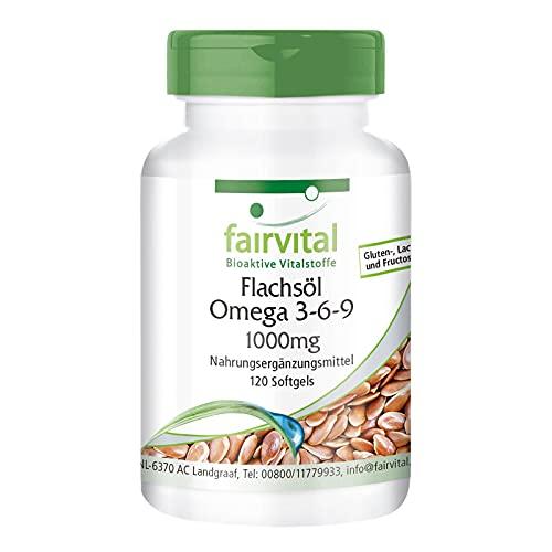 Omega-3-6-9 Kapseln - HOCHDOSIERT mit 2000mg LeinsamenÖl (Flaxseed Oil) pro...