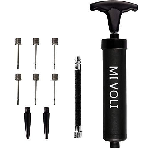 MIVOLI Ballpumpe mit 6 Nadeln, 1 Düse und 1 flexiblem Schlauch, effektive Luftpumpe...