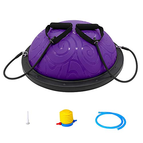 ATIVAFIT Balance Trainer Ball, Balancetrainer Gymnastikball 60cm mit Expander &...