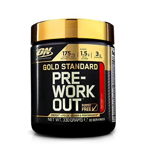 Optimum Nutrition ON Gold Standard Pre Workout, Energy Drink Pulver mit Kreatin...