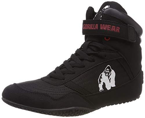 Gorilla Wear High Tops Red rot - schwarzes Logo - Bodybuilding und Fitness Schuhe...