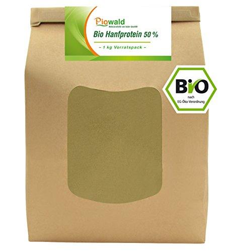 BIO Hanfprotein - 1 kg Vorratspack | Pflanzliches Eiweißpulver von Piowald | Vegan |...
