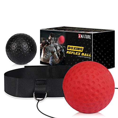 Xnature Boxen Training Ball Reflex Fightball Speed Fitness Punch Boxing Ball mit...