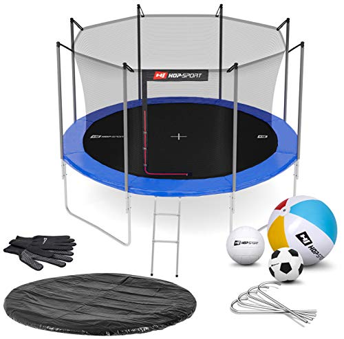 Hop-Sport Gartentrampolin Outdoor Trampolin 244, 305, 366, 430, 490 cm Komplettset...