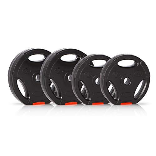 Ultrasport Hantelscheiben, 4 Hantelgewichte im Set, 2x 2,5 kg, 2x 5 kg, Standard...