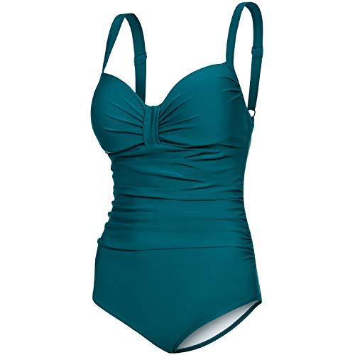 Aqua Speed eleganter Badeanzug Damen | Damenbadeanzug einteilig | Badebekleidung mit...