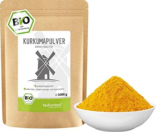 BIO Kurkuma Pulver gemahlen 1000 g / 1 kg | Kurkumapulver - Curcuma - Curcumin | 100%...