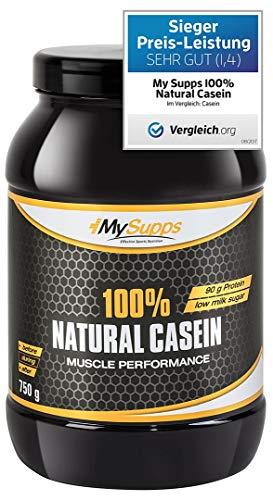 MySupps- 100% Natural Casein, hochwertiges & bioaktives Night Protein, hochdosiertes...