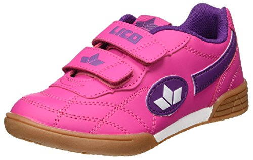 Lico Bernie V Mädchen Multisport Indoor Schuhe, Pink/ Lila/ Weiß, 35 EU