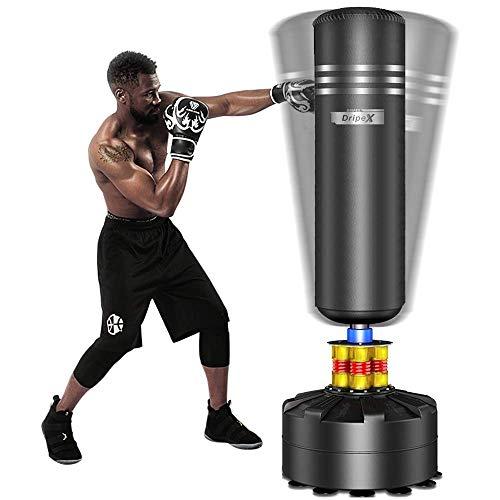Dripex Boxsack Erwachsene Freistehender Standboxsack MMA Boxpartner Boxing Trainer...