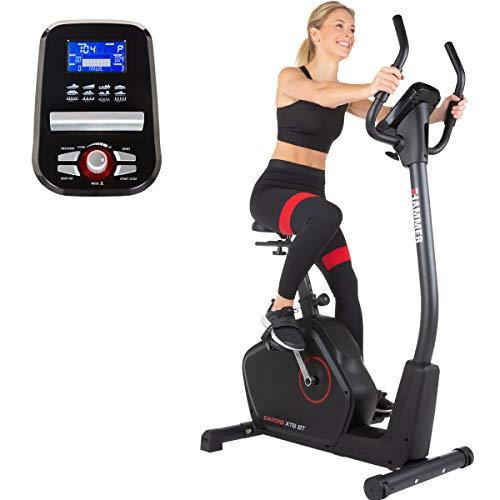 HAMMER Ergometer Cardio XT6 BT, leises Fitnessfahrrad mit tiefem Einstieg und...