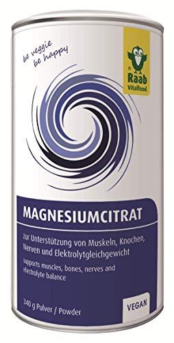 Raab Vitalfood Magnesiumcitrat Pulver, 340 g, vegan, laborgeprüft, gut zu dosieren,...