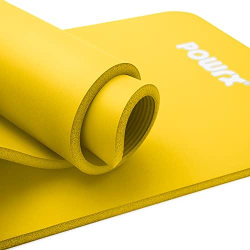 POWRX Gymnastikmatte I Yoga-Matte inkl. Trageband + Tasche + GRATIS Übungsposter I...