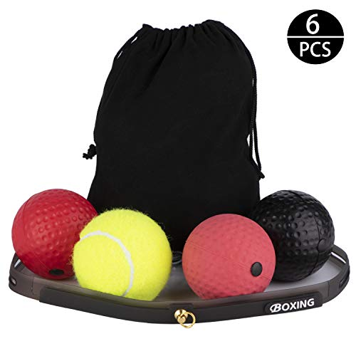 Dioxide Reflex Boxen Ball mit Stirnband Reflexball Speed Boxing Kopf Stirn - Fight...