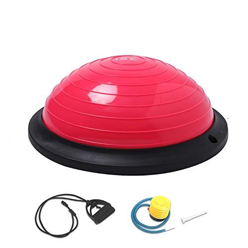 ISE Ø46 cm Balance Trainer Balance Ball Trainingshalbball mit Pumpe und 2...