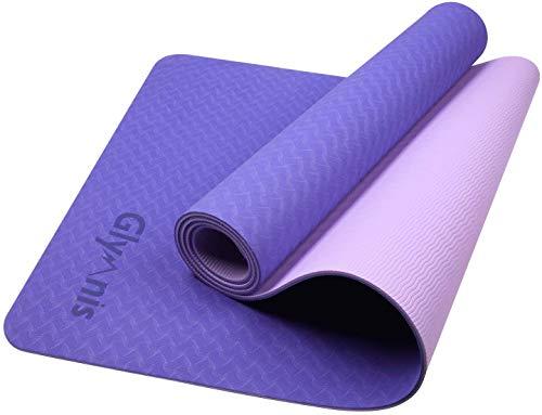 Glymnis Yogamatte Gymnastikmatte aus TPE rutschfest Übungsmatte Fitnessmatte für...